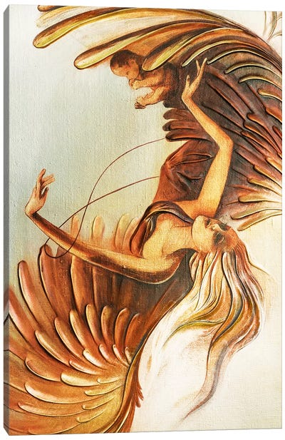 Angel Saving Unborn Child Canvas Art Print