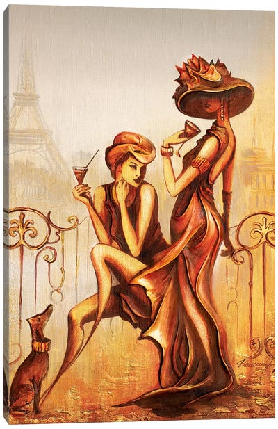 Art Of Being A Lady Canvas Art Print