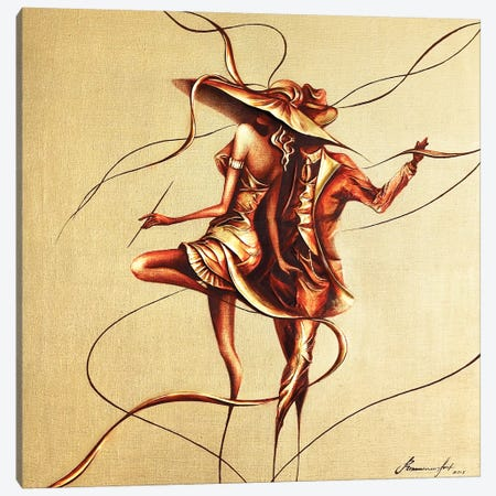 Dancing 3-Piece Canvas #RMN9} by Raen Canvas Artwork