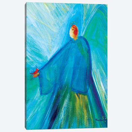 Benevolent Angel with Cardinal Canvas Print #RMR10} by Robin Maria Art Print