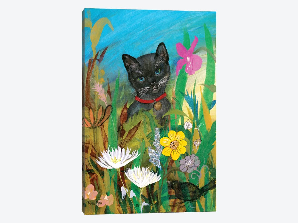 Cat in the Garden by Robin Maria 1-piece Canvas Artwork