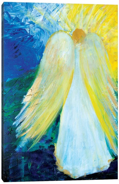 Glowing Angel of Love Canvas Art Print
