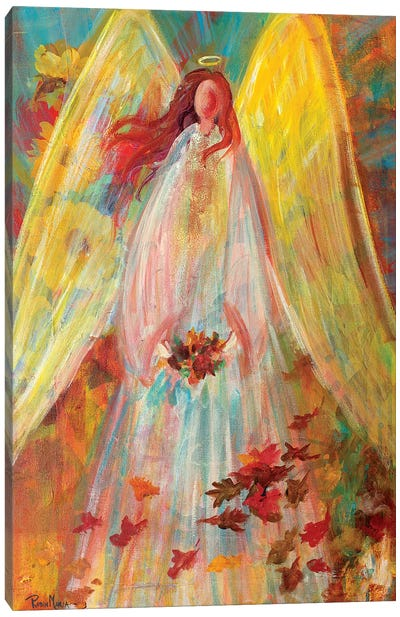 Harvest Autumn Angel Canvas Art Print