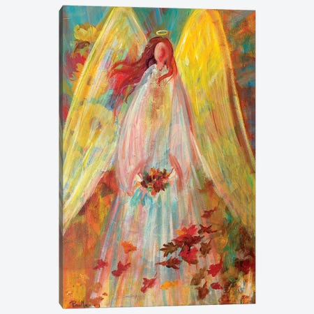 Harvest Autumn Angel Canvas Print #RMR19} by Robin Maria Canvas Print