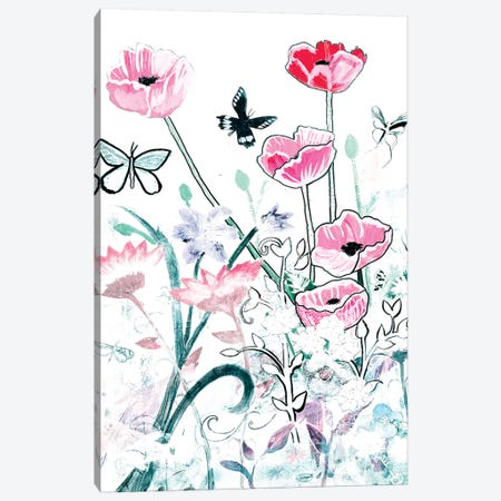 All White Garden Canvas Print #RMR1} by Robin Maria Canvas Art Print