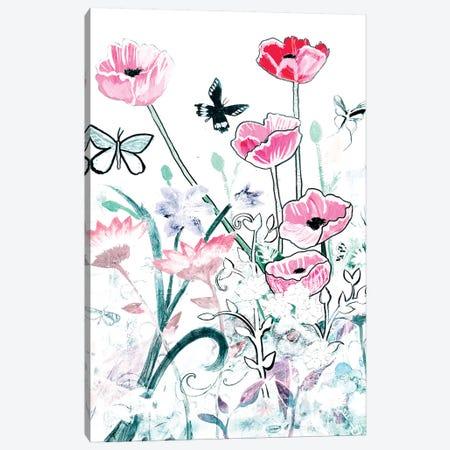 All White Garden Canvas Print #RMR1} by Robin Maria Canvas Art Print