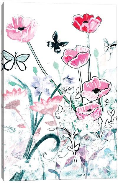 All White Garden Canvas Art Print