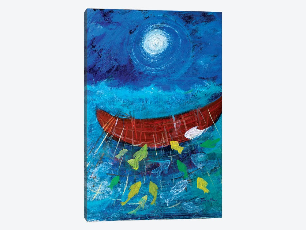 Miraculous Net of Fish by Robin Maria 1-piece Canvas Art