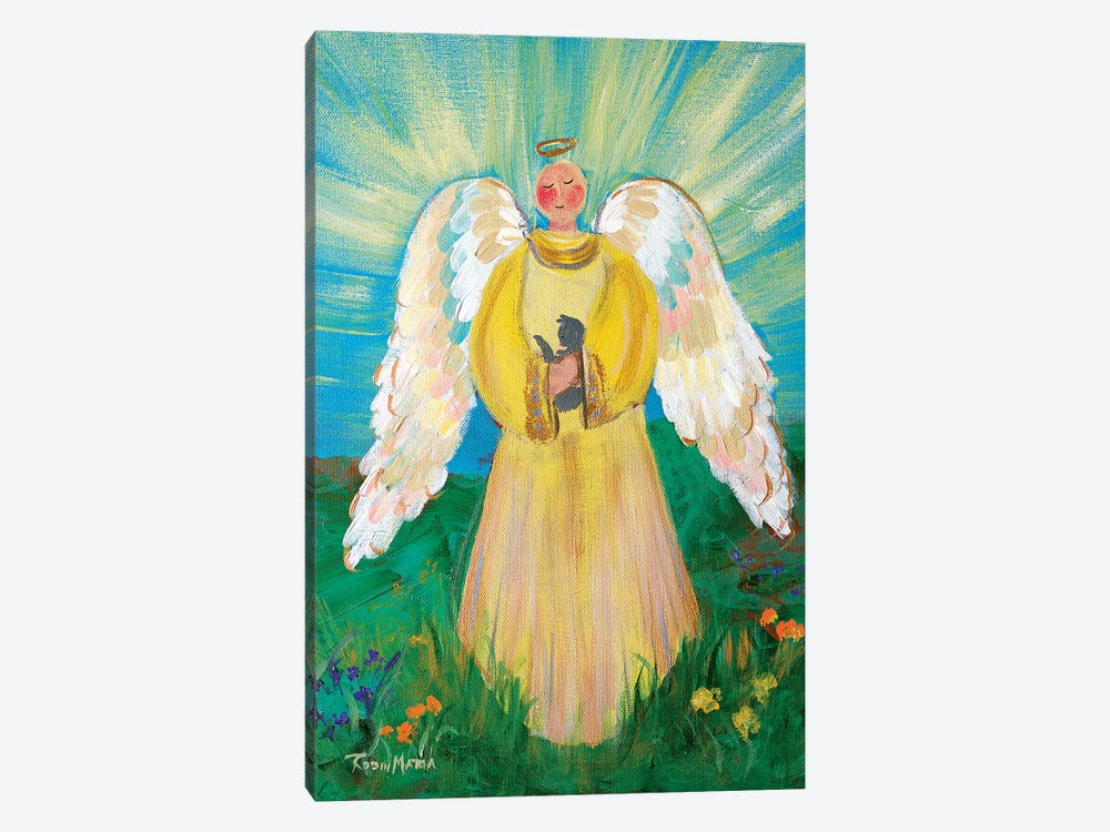 Purrfectly Heavenly Angel by Robin Maria 1-piece Canvas Artwork