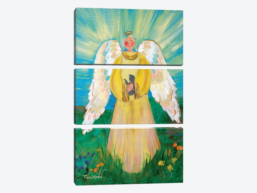 Purrfectly Heavenly Angel by Robin Maria 3-piece Canvas Art