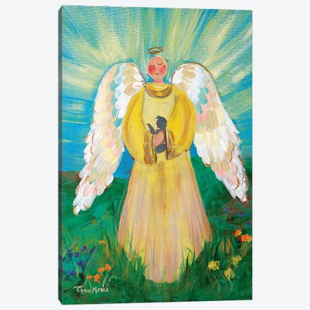 Purrfectly Heavenly Angel Canvas Print #RMR28} by Robin Maria Canvas Wall Art