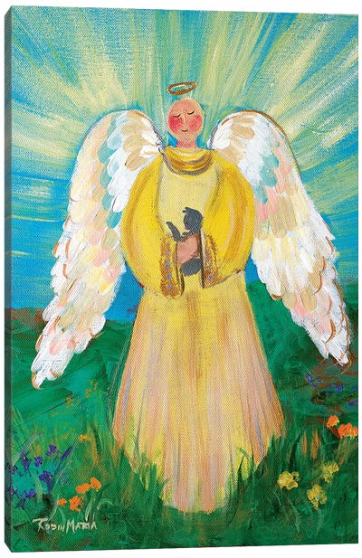Purrfectly Heavenly Angel Canvas Art Print