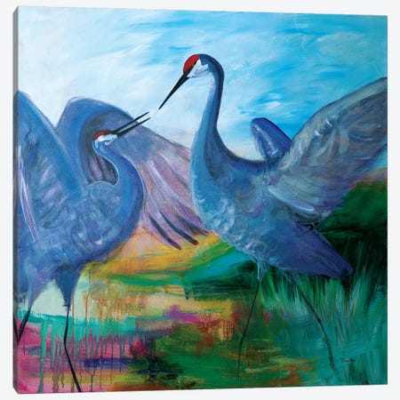 Sandhill Cranes Canvas Print #RMR31} by Robin Maria Canvas Art Print