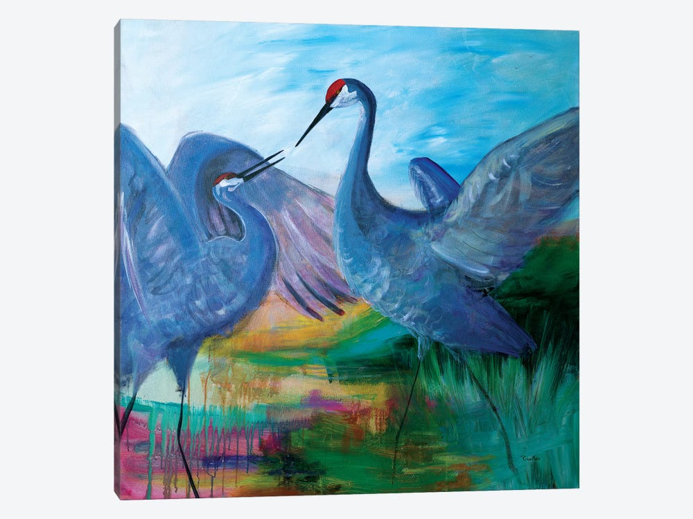Sandhill Cranes by Robin Maria 1-piece Canvas Artwork