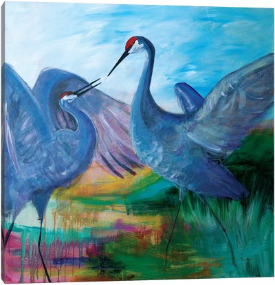 Sandhill Cranes Canvas Art Print