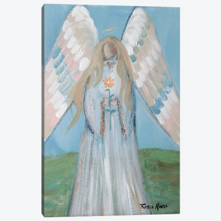 Angel in Spring Canvas Print #RMR33} by Robin Maria Canvas Print