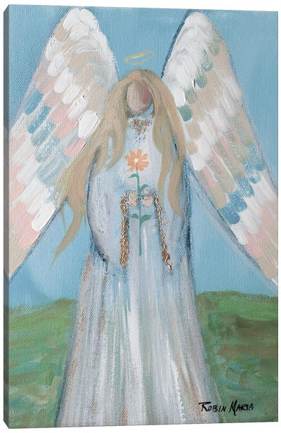 Angel in Spring Canvas Art Print