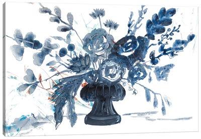 Blue Floral in Vase Canvas Art Print