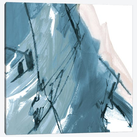 Blue on White Abstract I Canvas Print #RMR36} by Robin Maria Canvas Art