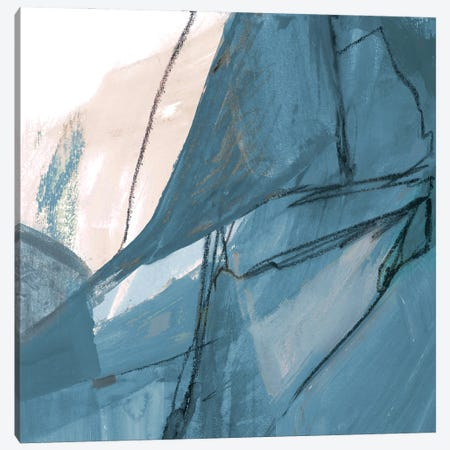 Blue on White Abstract II Canvas Print #RMR37} by Robin Maria Canvas Art