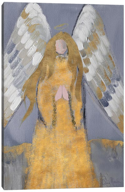Gold and Silver Angel Canvas Art Print