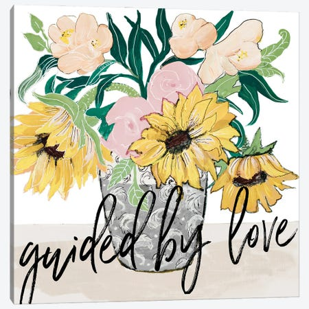 Guided by Love Canvas Print #RMR46} by Robin Maria Art Print