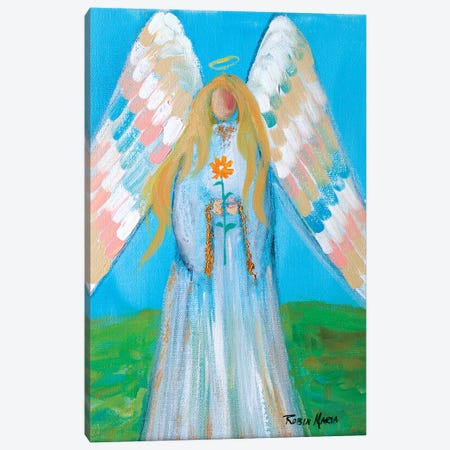 Angel of Spring Canvas Print #RMR4} by Robin Maria Canvas Wall Art