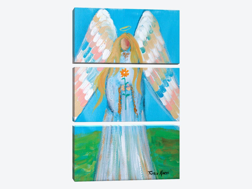 Angel of Spring by Robin Maria 3-piece Canvas Wall Art