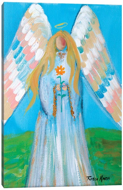 Angel of Spring Canvas Art Print