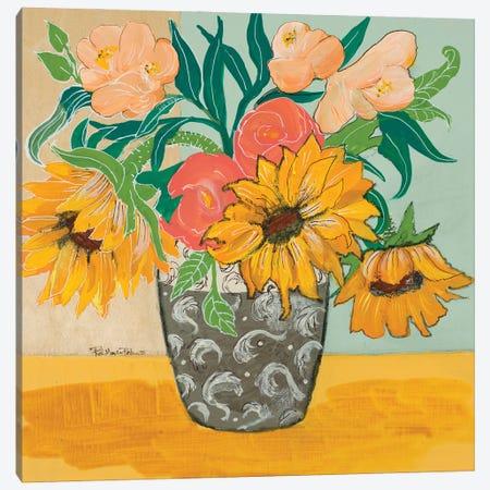 Summertime Vase Canvas Print #RMR51} by Robin Maria Canvas Art Print