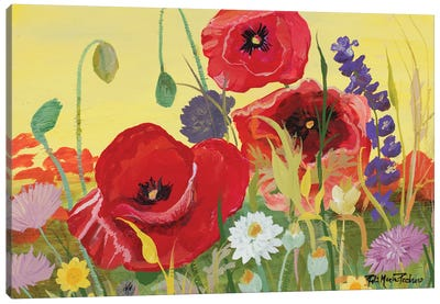 Victory Red Poppies I Canvas Art Print