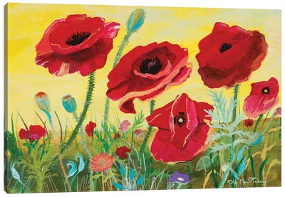 Victory Red Poppies II Canvas Art Print