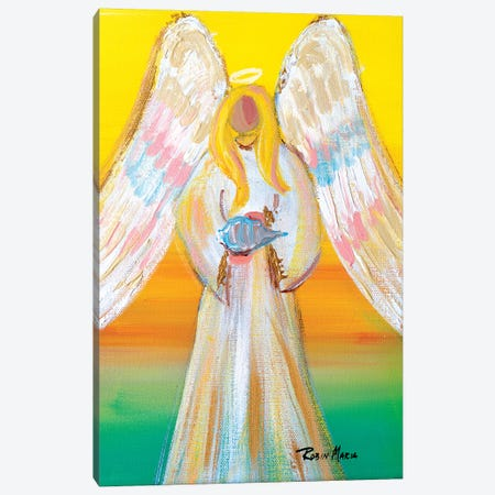 Angel of Summer Canvas Print #RMR5} by Robin Maria Canvas Art