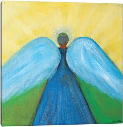 Beneath Angels Wings Canvas Art Print