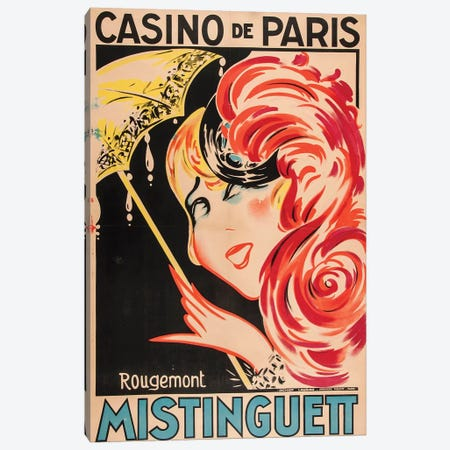 Mistinguett Casino de Paris Canvas Print #RMT2} by Rougemont Art Print