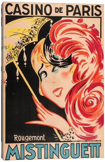 Mistinguett Casino de Paris Canvas Art Print