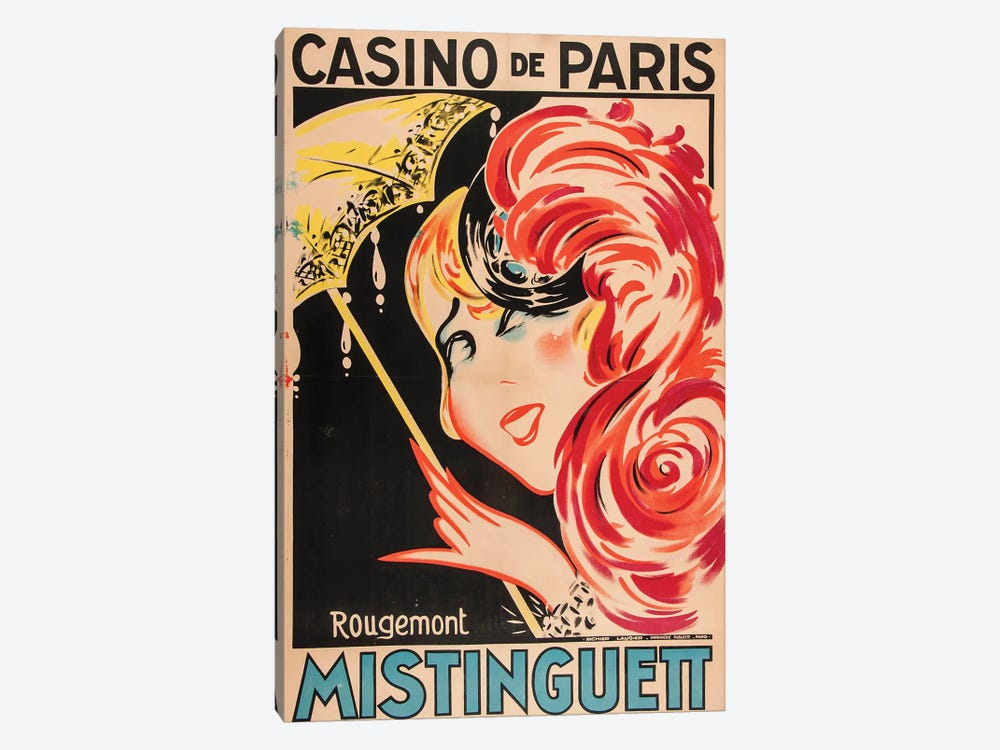 Mistinguett Casino de Paris by Rougemont 1-piece Canvas Artwork