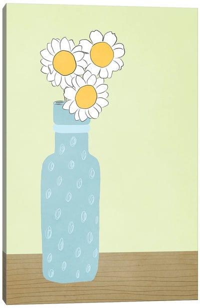 Blue Daisy Canvas Art Print