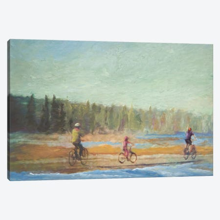 Family Bike Ride Canvas Print #RMU107} by Roberta Murray Canvas Print