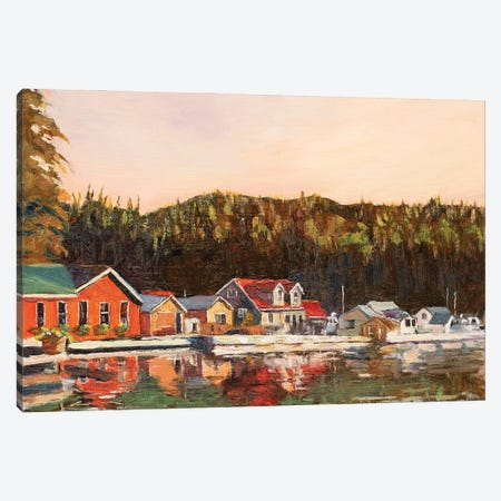 Sullivan Bay Marina Canvas Print #RMU108} by Roberta Murray Canvas Wall Art
