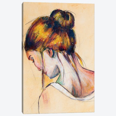The Brunette Canvas Print #RMU109} by Roberta Murray Canvas Art