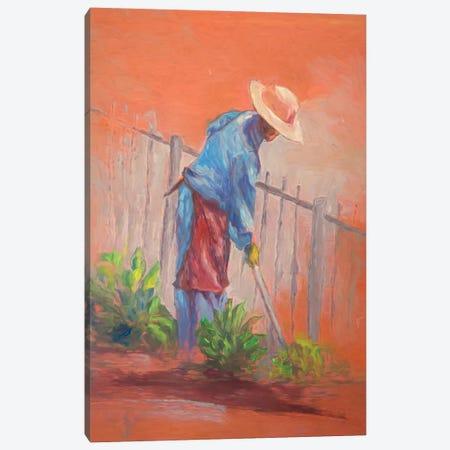 The Gardener Canvas Print #RMU115} by Roberta Murray Canvas Wall Art
