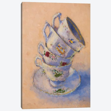 Grannies Teacups Canvas Print #RMU117} by Roberta Murray Canvas Artwork