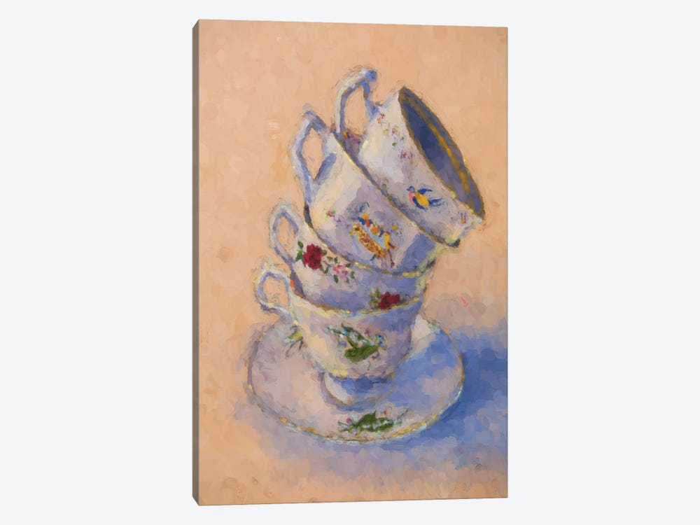 Grannies Teacups by Roberta Murray 1-piece Canvas Print