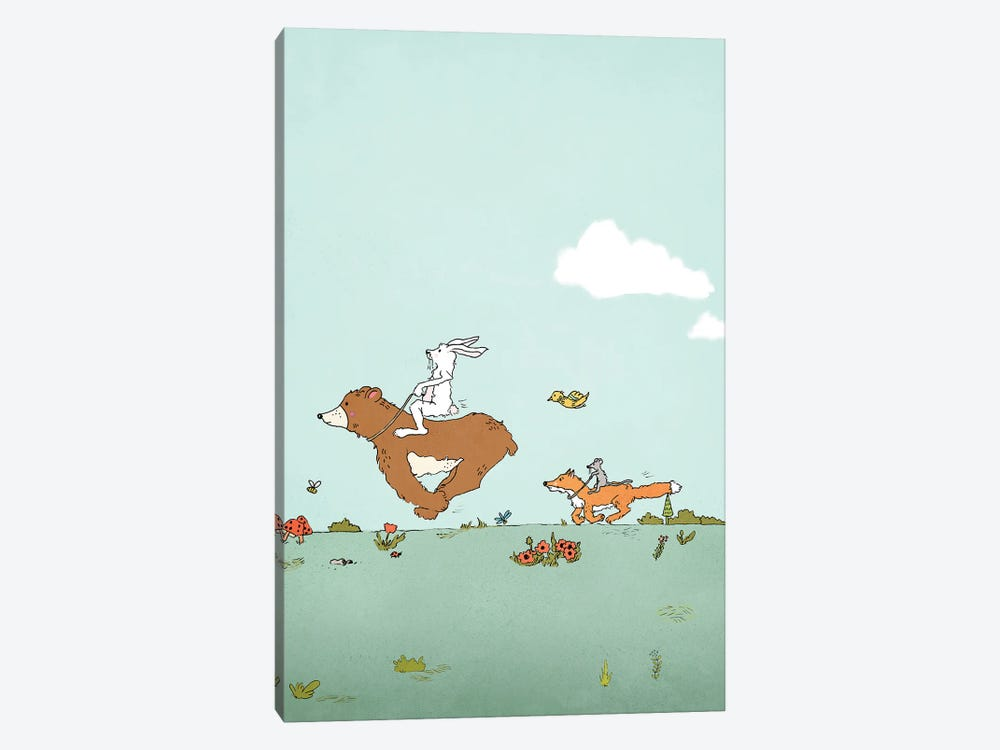 Giddy Up by Roberta Murray 1-piece Canvas Art Print
