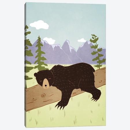 Forest Nap Canvas Print #RMU120} by Roberta Murray Canvas Art