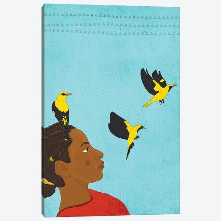 Golden Oriole Canvas Print #RMU125} by Roberta Murray Art Print