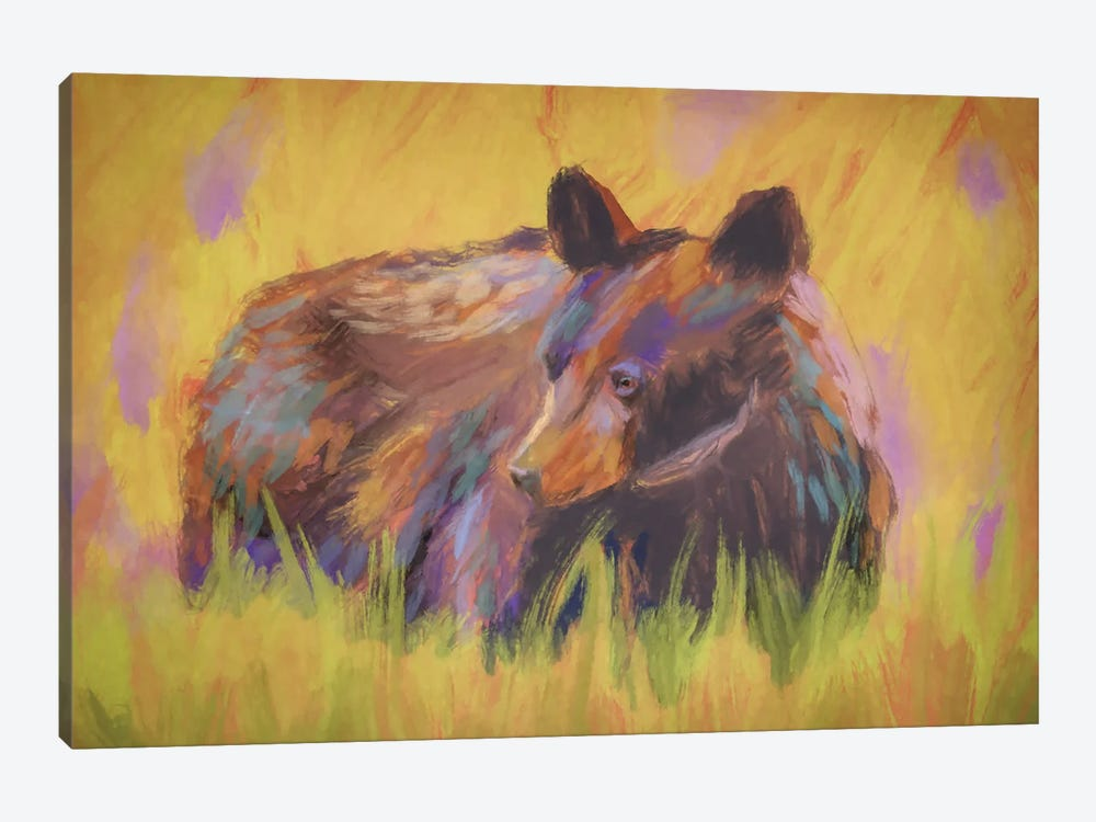 Meadow Bear by Roberta Murray 1-piece Art Print