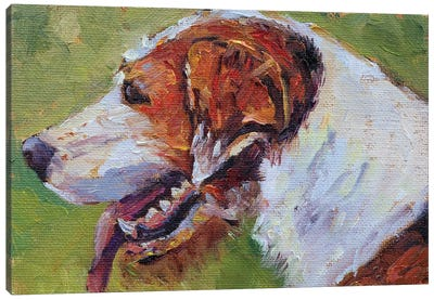Eager Beaver Foxhound Canvas Art Print