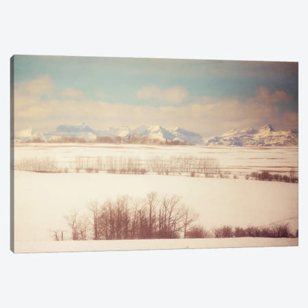 Winter Farmland Canvas Print #RMU157} by Roberta Murray Canvas Wall Art